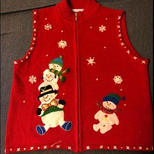 Sweaters - Vintage Tacky/Ugly Christmas Sweater Vest